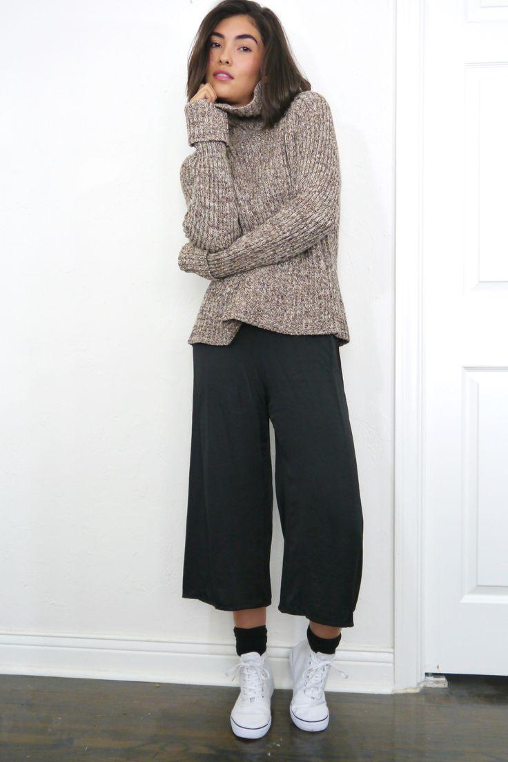 Black Silk Culottes from ShopMika