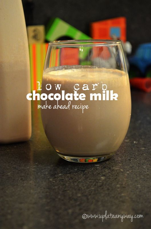 Low Carb Chocolate Milk from Up Late Anyway