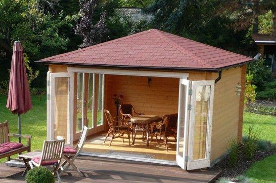 Gartenpavillon selber bauen: 2 Ideen mit Bauanleitung ...