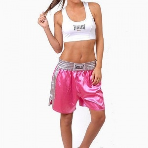 shorts boxe Everlast Alexandra rose | achat shorts boxe Everlast alexandra, shorts boxe thai Everlast, shorts muay thai everlast au meilleur prix chez Dragon Bleu
