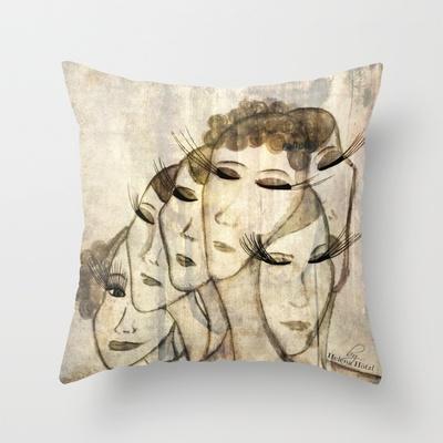 Silence........ Throw Pillow by Helena Hotzl - $20.00