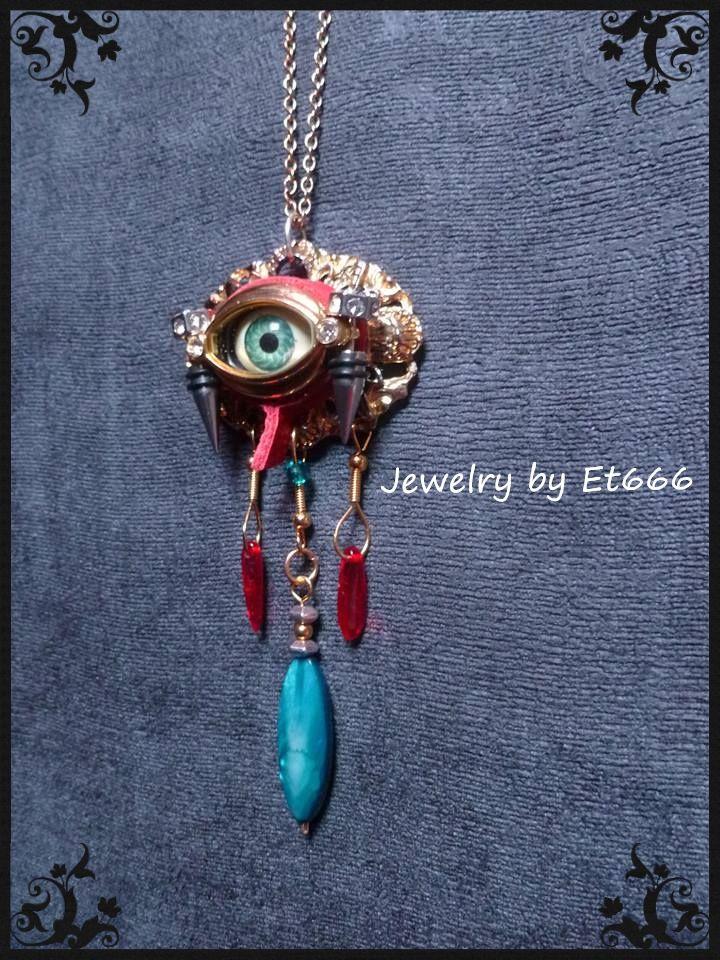 Bijoux créateur pendentif . Les larmes de Cassandre