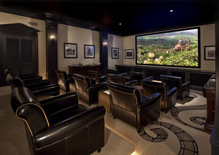 A home theater that provides enough room for everyone to sit back and enjoy a film! #Home #Theater