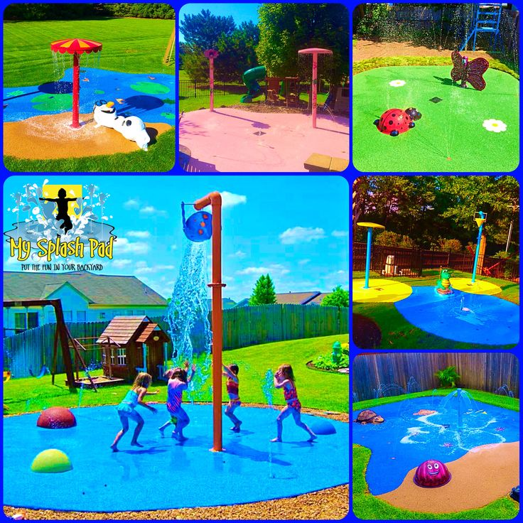 What would you have us custom manufacture for your backyard splash pad? We have done Olaf, a Glitter filled Pink splash pad, a Garden themed splash pad, a Hidden Mickey splash pad to go with their Mickey swimming pool, a Finding Nemo splash pad and so many others. Fun, safe and colorful water play for children of all ages!