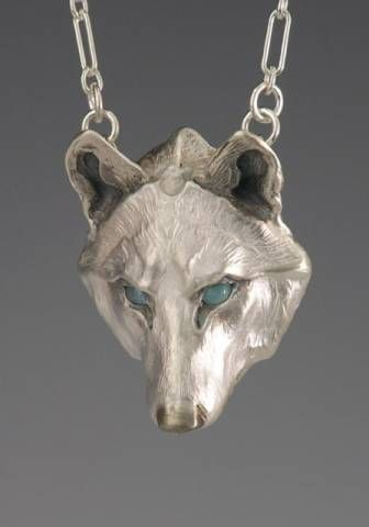 Handcrafted Silver Jewelry Wolf Jewelry Pendant