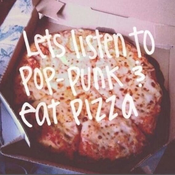 """ILL HAVE MY BEST FRIEND IN THE FRONT SEAT AND MY PIZZA IN THE BACK!!"" ~Jarrod Alonge (Pop Punk Pizza Party)"