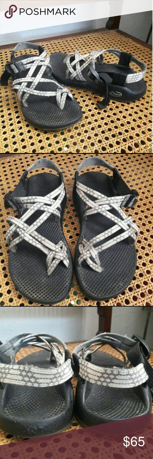 Chacos sandals In good used conditions still has Tons and tons of life left in them!.  Toe loop Chaco sandals very cute!   Checkout my listings for more awesome stuff! ? Chacos Shoes Sandals