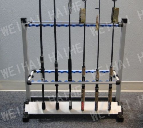 ==> [Free Shipping] Buy Best Aluminum Fishing Rod Rack Silver 24Pcs Fishing Rods Holder Pesca Fishing Tackle Carp Fishing Rods Holder New Online with LOWEST Price | 2034382964