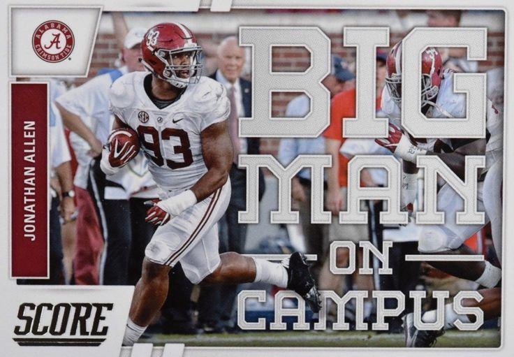 """Jonathan Allen Score """"Big Man On Campus"""" NFL rookie card #Alabama #RollTide #Bama #BuiltByBama #RTR #CrimsonTide #RammerJammer"""