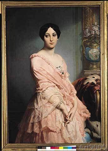 Edouard Louis Dubufe - Portrait of Madame F, 1850-51