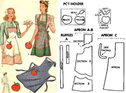 Free access to the vintage pattern library 51 AUGUST 19, 2009 [vintage_apron_pattern1]  The University of Rhode Island has granted free access to their vintage pattern library which has over 48,000 vintage patterns