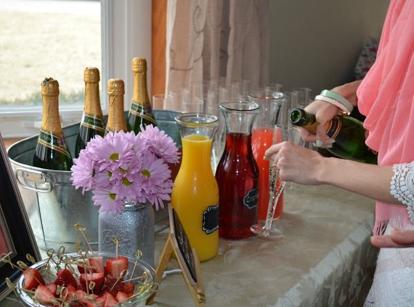 Beatle's Themed Bridal Shower: All You Need Is Love… Strawberry Fields Forever Mimosa Bar