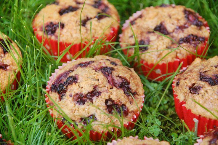 Muffins de amora saudáveis – Laranja-lima | Nutrição e bem-estar
