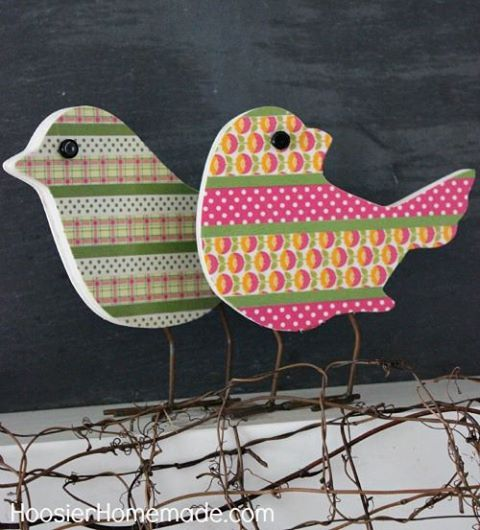 washi tape birds