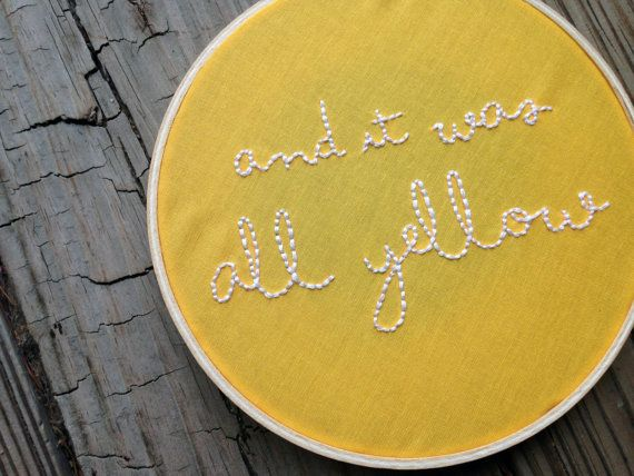 Y era todo amarillo / / Coldplay Letras / / 6 por threadhoney