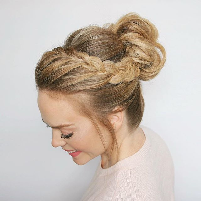 A new tutorial just hit YouTube!  This Double Lace Braid High Bun would be gorgeous for prom or fun night out! I wore it to grab pizza with my hunnies  Go check out the tutorial to learn how to recreate this look! Inspo from the talented @tonyastylist  Link in bio!  #missysueblog