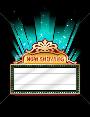 Theatre marquee design top of my list pinterest for Theatre sign clipart
