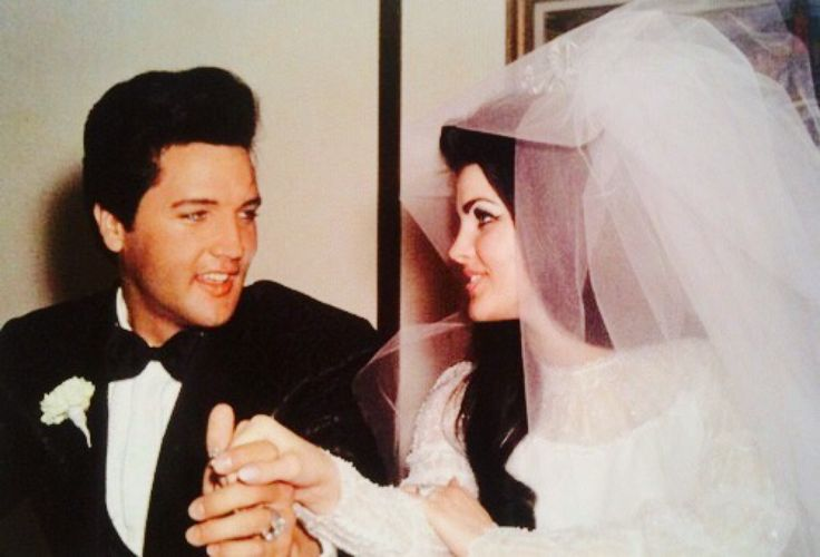 """takingcare-of-business: """" Elvis and Priscilla Presley on their wedding day, Las Vegas, May 1, 1967. """""""