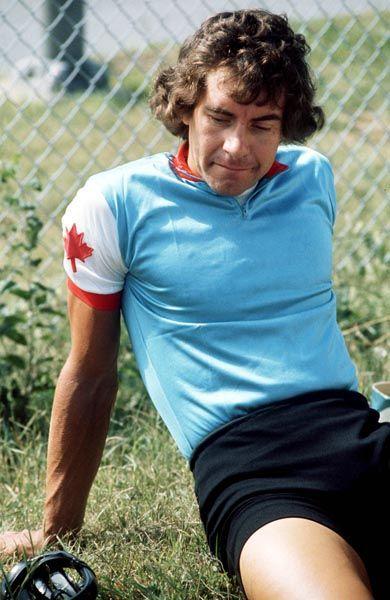 Tom Morris du Canada participe à une épreuve de cyclisme sur route aux Jeux olympiques de Montréal de 1976. (Photo PC/AOC)