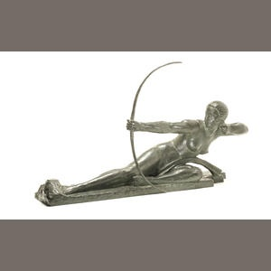 Marcel-Andre Bouraine 'Penthesilea Queen of the Amazons' a Large Patinated Bronze Study, circa 1925