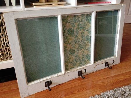 how to put pictures in old window frames