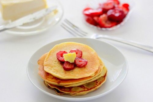 Single-Serve Pancake Recipe - mmm, mmm good! This batter is a thinner one.
