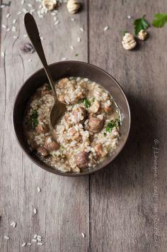 minestra di riso e castagne secche...
