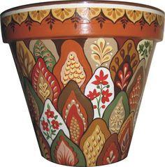 Kuvahaun tulos haulle hand painted clay pots designs