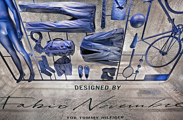 If It's Hip, It's Here: Hilfiger Fashions Become Model Kit Pieces In This Window Display by Fabio Novembre