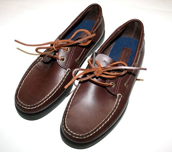 Vintage Ralph Lauren Polo Sport Mens Boat Shoes available at VintageMensGoods, $30.00