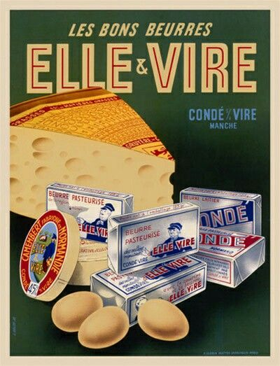 Vintage French Advertising Beurres Elle & Vire