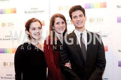 Rose, Tatiana, and John Schlossberg. Photo by Tony Powell. 2016 Kennedy Center Honors Red Carpet. December 4, 2016