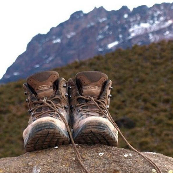 Bruce Elliott conquering Mount Kilimanjaro in his #lowaboots. #hiking