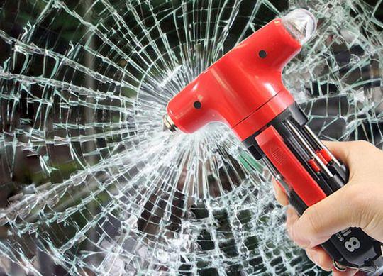 kacytools 8 in 1 Emergency Hammer.Car Window Glass Seat Safety AUTO Emergency LifeSaving Hammer Belt Cutter   HW005