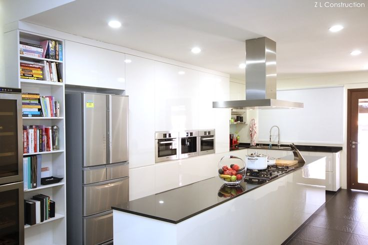 Kitchen Island Singapore z l construction (singapore) \ kitchen island in black and white