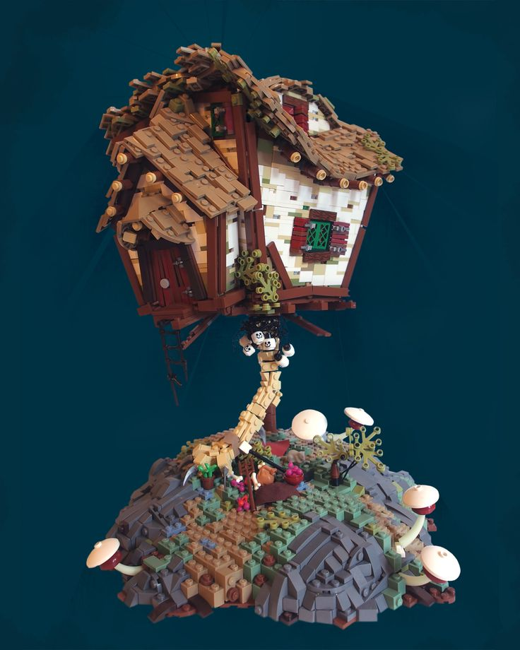 """Legonardio (get it, Leonardo and Lego together) amazing awesome cool Lego houses created by David Hensel - I love the treehouse """"Senneck's Reside"""" and the castle """"Moruth's Outpost"""" - wish you could buy these """"kits"""""""