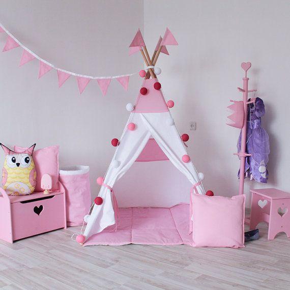 READY TO SHIP! Simple Pink Teepee, Play Tent, Play House, Nursery, Teepee Tent, Kids Teepee, Wigwam, Indoor
