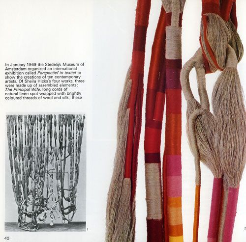 sheila hicks art- wonder if I could do a necklace inspired by her work?