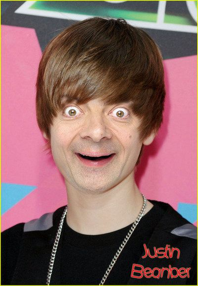 Mr Bean - Justin Bieber  Oh my goodness!!