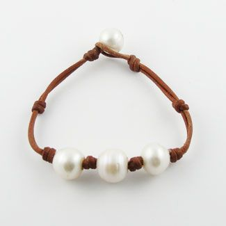 oltre 1000 idee su leather pearl bracelet su pinterest