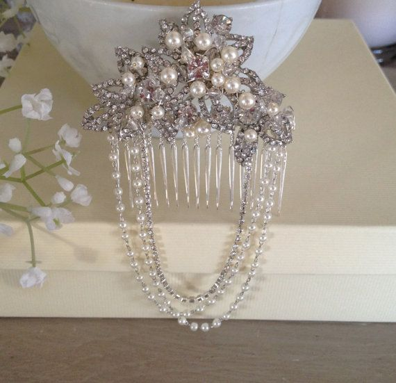 Different style, still cute 1920s The Great Gatsby Style Hair Comb Slide by TheLittleTiaraRoom, £38.00