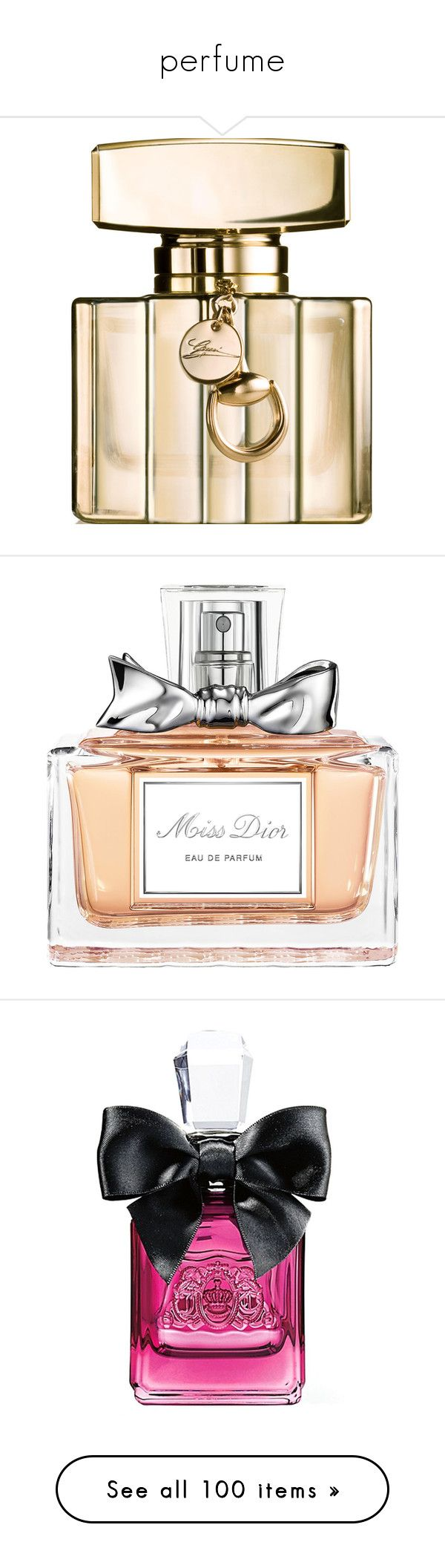 """""""perfume"""" by darlingchick ❤ liked on Polyvore featuring beauty products, fragrance, perfume, makeup, beauty, cosmetics, edp perfume, gucci fragrance, eau de parfum perfume and gucci"""