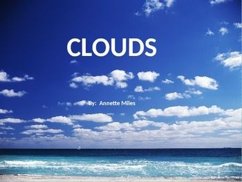 Types Of Clouds Powerpoint Clouds Cloud Type Prefixes