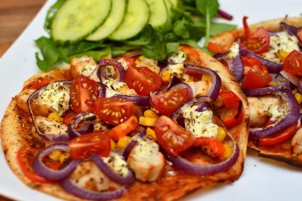 Speltlompe-pizza med philadelphia t (Bakekona)