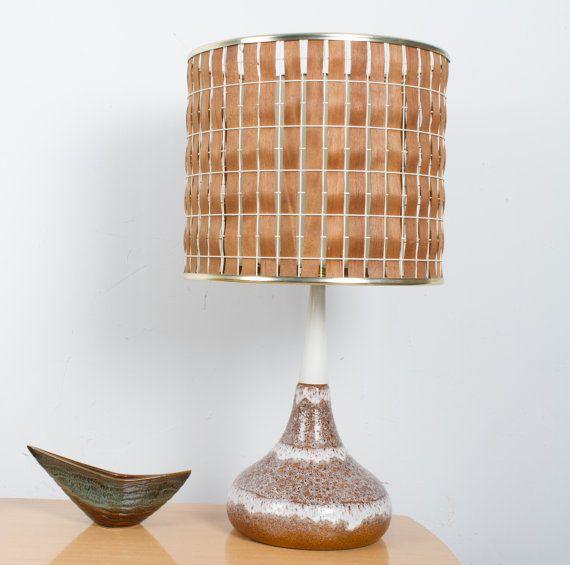 200 best vintage lamps images on pinterest vintage lamps maurice chalvignac table lamp vintage teak slatted double shade aloadofball Images