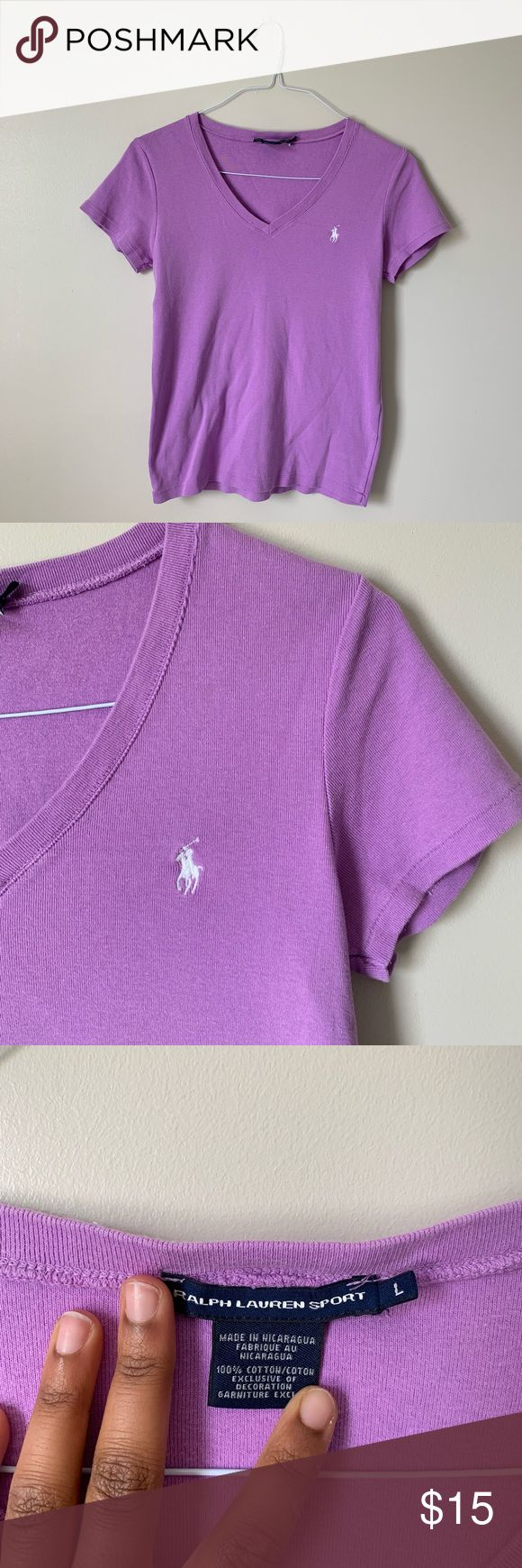 Basic Purple Ralph Lauren Graphic Tee size- L follow us on instagram @shopmonowi for updates     tags- cute, aesthetic, vintage, thrifted, y2k, babygi...
