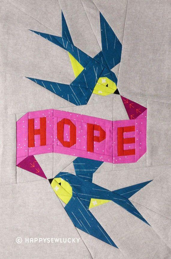 HOPE tattoo quilt PDF pattern