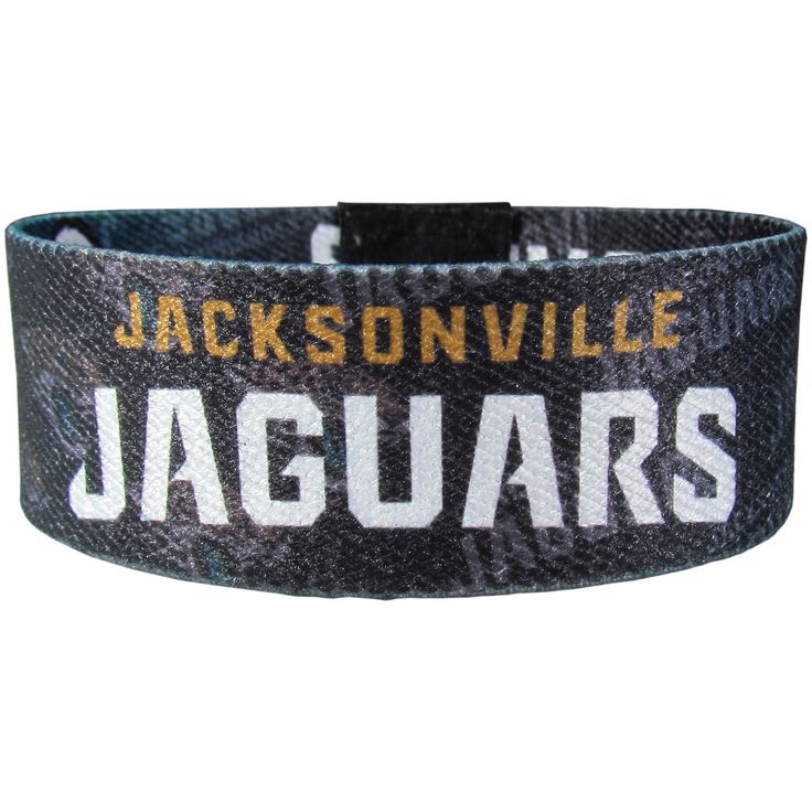 """Checkout our #LicensedGear products FREE SHIPPING + 10% OFF Coupon Code """"Official"""" Jacksonville Jaguars Stretch Bracelets - Officially licensed NFL product Licensee: Siskiyou Buckle Stretch fabric for comfortable fit for most wrist sizes Dye sublimation graphics are sharp and bright Bracelet features the team name and logo with repeating graphics A must have for any Jacksonville Jaguars fan! - Price: $14.00. Buy now at…"""