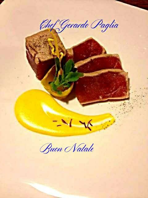 Curiosita gourmet dai sapori esclusivi...tonno rosso e zafferano!