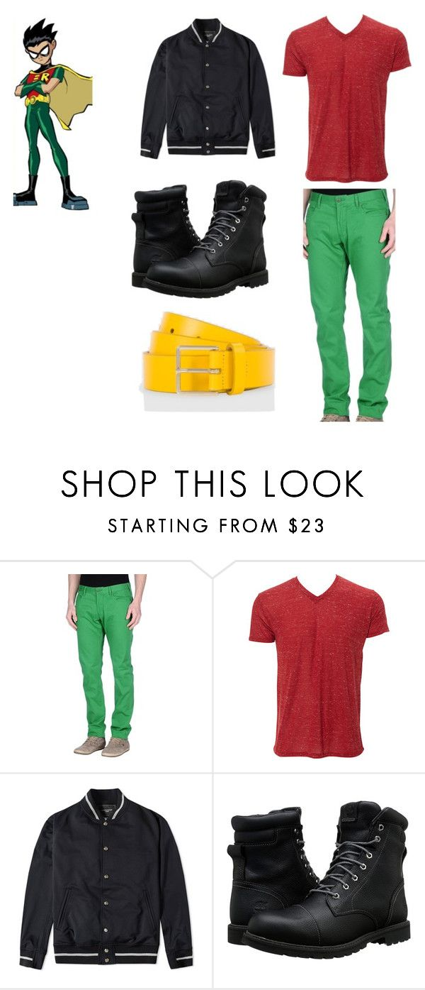 """""""Robin 2016"""" by kayla-allaire on Polyvore featuring Armani Jeans, Mastermind, Timberland, Paul Smith, men's fashion and menswear"""